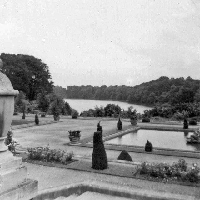 Garden, Blenheim Palace, Oxfordshire, taken 1964