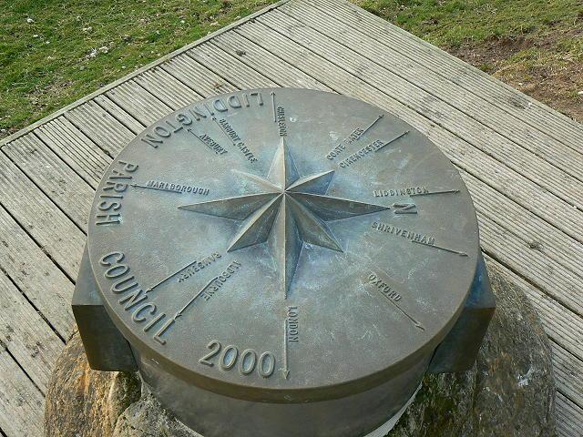 Millennium stone, Liddington Castle (3)