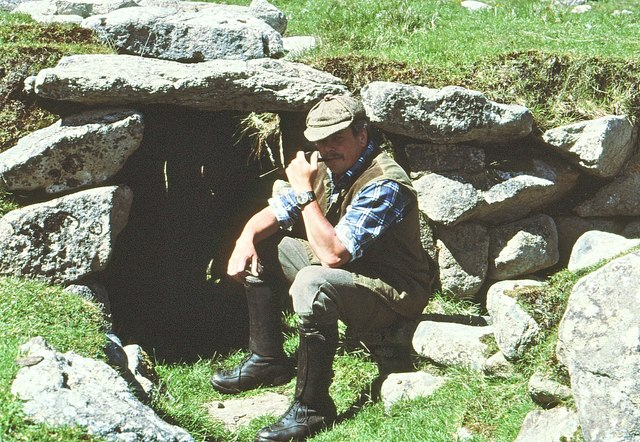 Entrance to an Earth House or Souterrain on St Kilda
