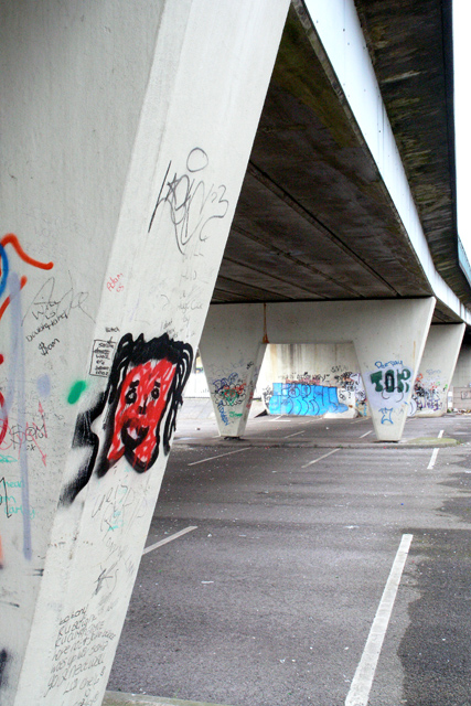 Under the Meadow Road bridge