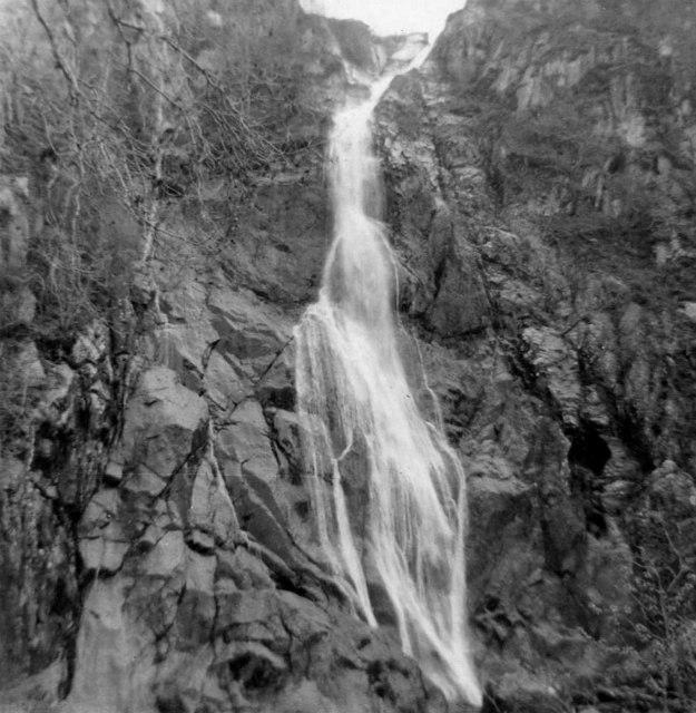 Aber Falls, Gwynedd, taken 1965