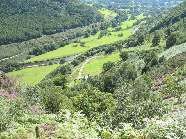 The Mawddach valley below Maes-mawr