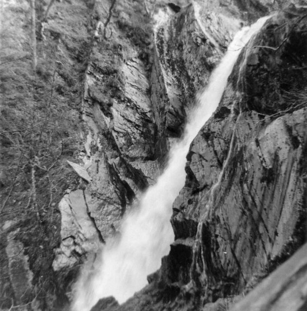 Mynach Falls, Devil's Bridge, Wales, taken 1965