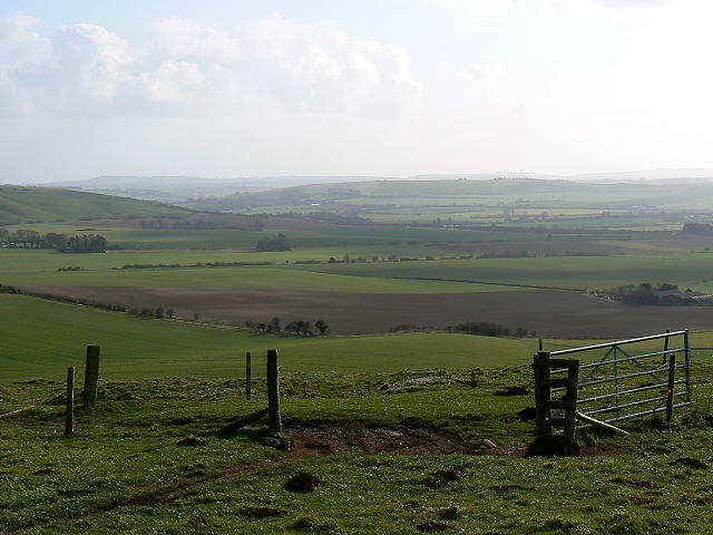 Farmland south-west of Liddington Castle