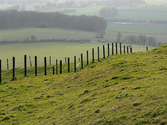Looking south-west from Liddington Castle