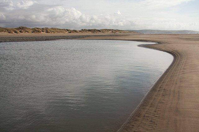 Borth Sands and lagoon