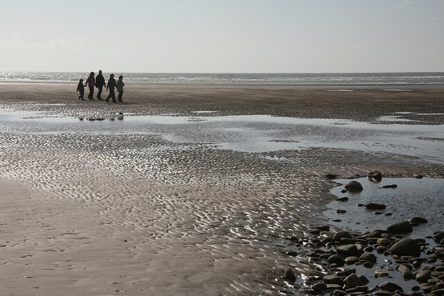 Walking on Borth Sands