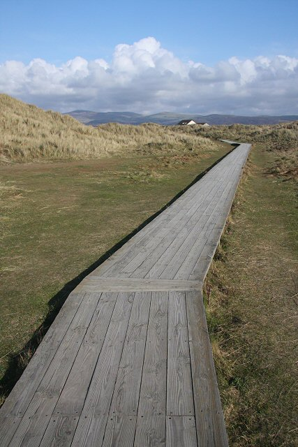 Boardwalk at Twyni Bach