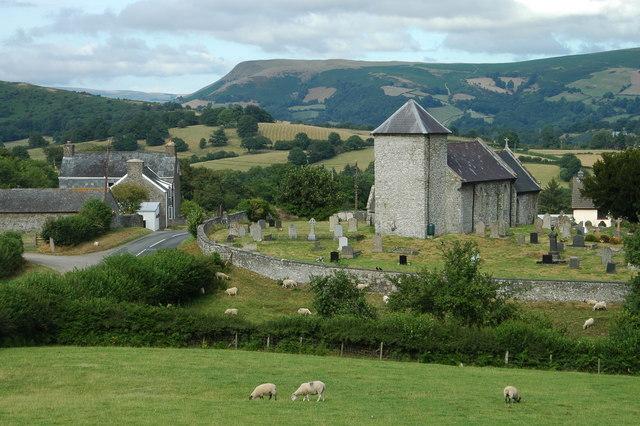 Llanddewi'r Cwm & surround countryside