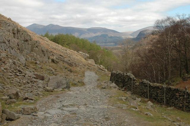 Descending Castle Crag