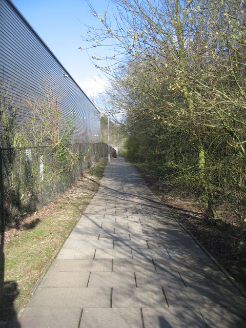Spring footpath - by the Fyffes warehouse