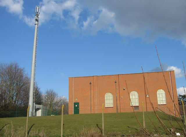 Westham Pumping Station + phone tower