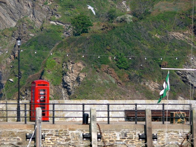 The telephone box at Ilfracombe Harbour