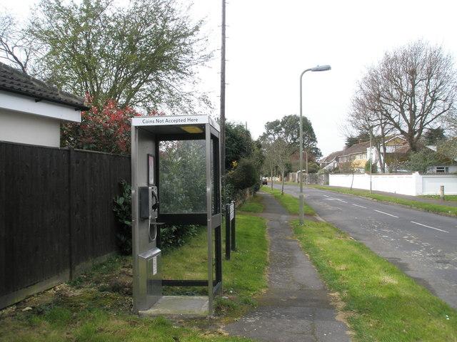 Phone box in Sinah Lane
