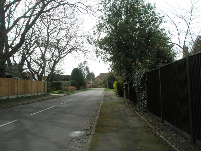 Northern end of St Catherine's Road