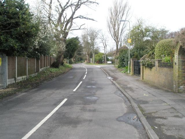 Sinah Lane near North Shore Road
