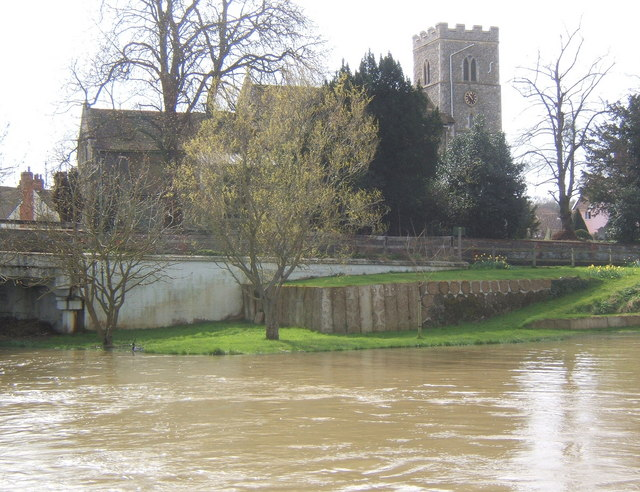 All Saints Church, Sproughton, viewed across the River Gipping
