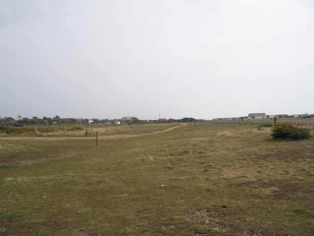 Looking eastwards at Sinah Common