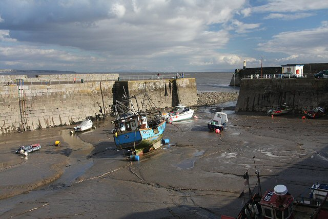 Porthcawl Harbour at low water