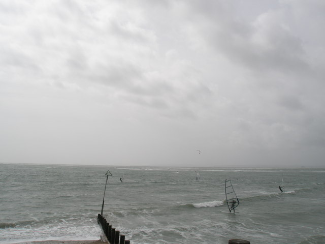 Windsurfers at Hayling