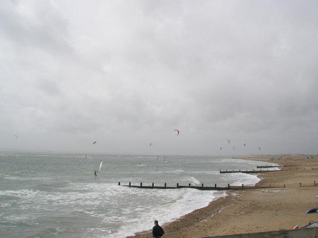 Kites on Hayling beach