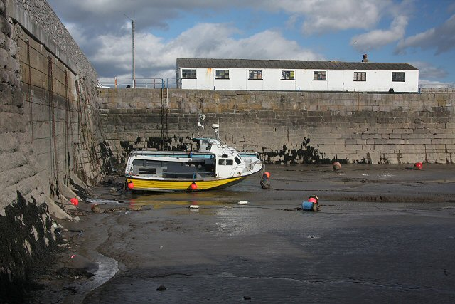Rear wall of Porthcawl Harbour