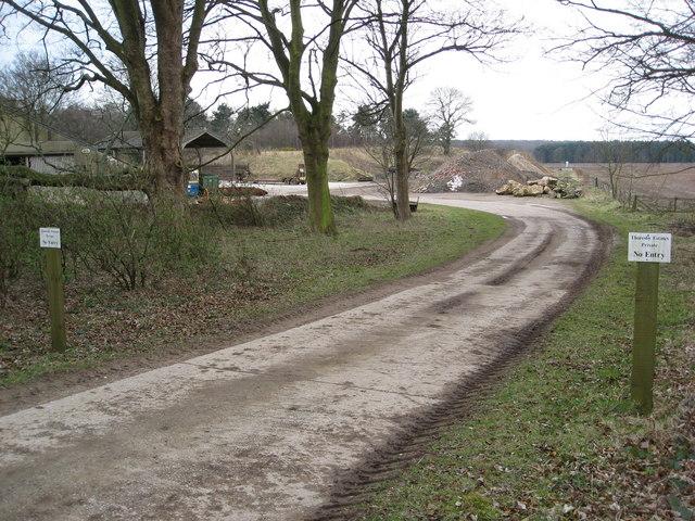 Thoresby Park Estate - Private Track (No Entry)