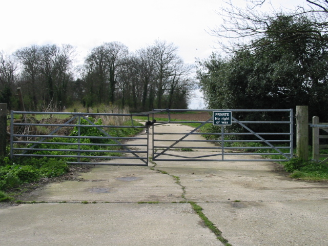 Gated private entrance to the Quex estate