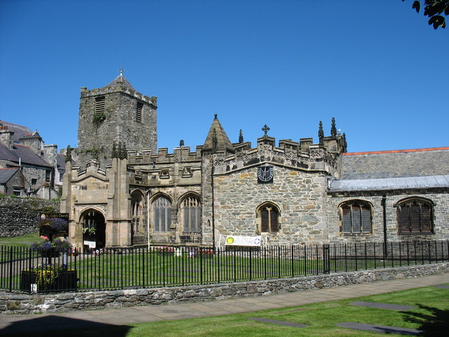 The south facade of St Cybi's Church