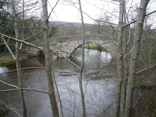 Froggatt Bridge and the River Derwent