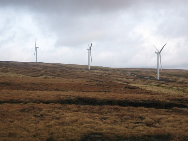 Turbine Towers 25,19 and 18 on Scout Moor