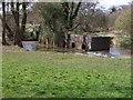 SP0568 : Mystery brickwork-River Arrow by Colin Babb