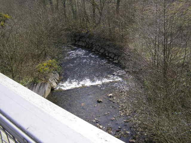 Weir on Nant Muchudd