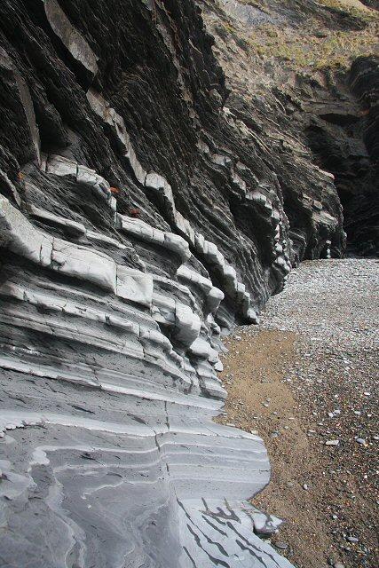 Rock strata at Aberystwyth