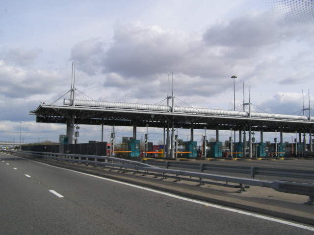 M4 Motorway Rogiet Toll plaza - pay to enter Wales
