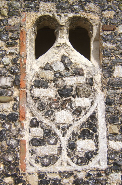 Detail of stonework, St Andrew's church porch, Tostock