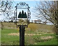 TL5845 : Bartlow village sign by Colin Bell