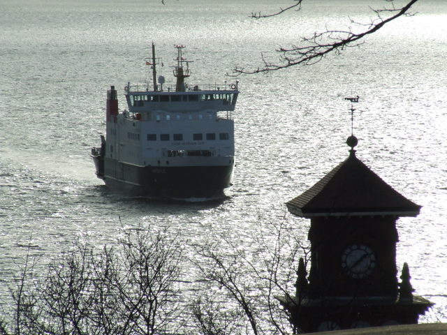 Ferry approaching Wemyss Bay