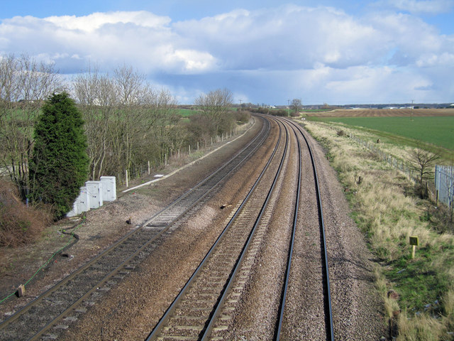The Railway towards Immingham