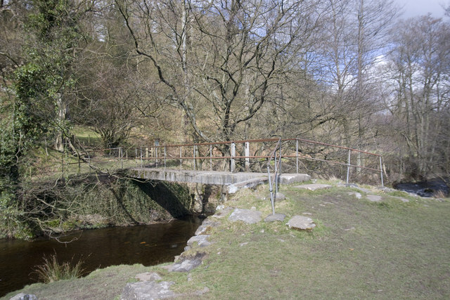 Footbridge over the River Goyt