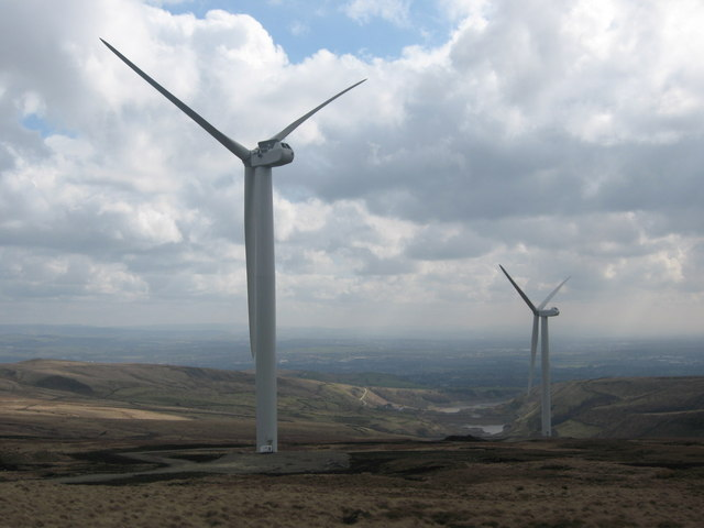 Scout Moor Wind Farm Turbines 19 and 18