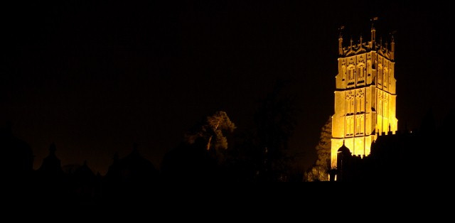 The Parish Church of St.James, Chipping Campden at night