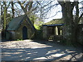 SW7827 : Mawnan Church lych gate and bier house by Rod Allday