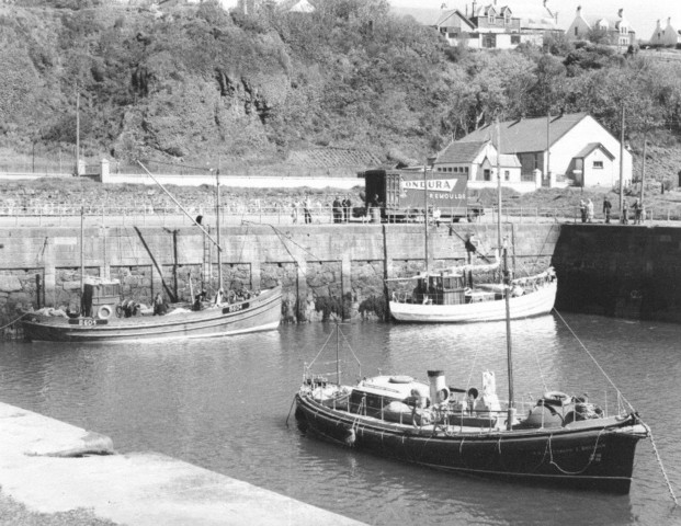 Boats in Portpatrick Harbour 1966