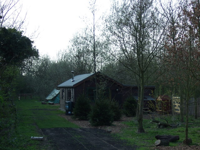 Log cabin at Manor Farm Animal Centre