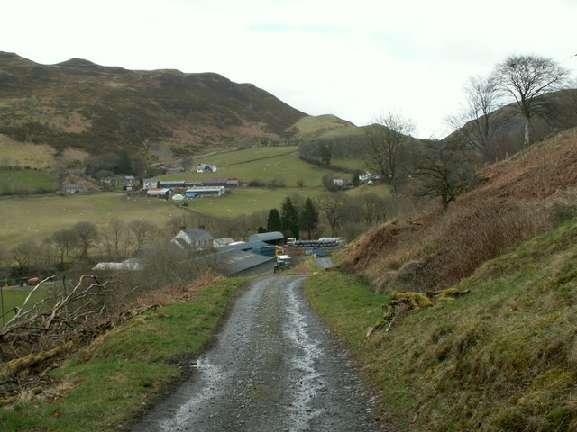 Dol-chenog with Cwmystwyth right hand skyline.