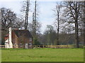 Dist:0.5km<br/>Isolated cottage in the large area of parkland surrounding the medieval Ockham Park House.