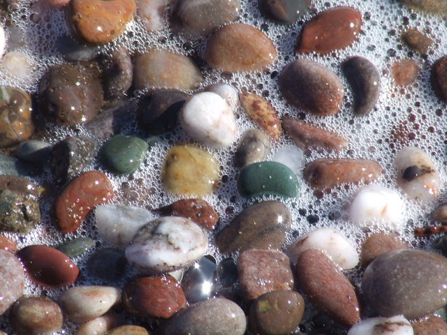 Pebbles in swash