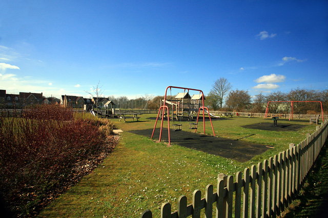 Children's play area at Highfields Caldecote, CB23