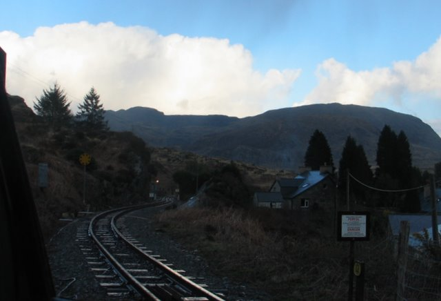 Ffestiniog Railway from level crossing